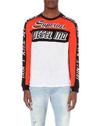 Diesel T-Gregor Printed Long Sleeved T-Shirt - For Men orange - Lyst
