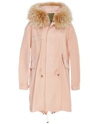 Mr & Mrs Italy - Racoon Trimmed Unlined New Marble Canvas Parka - Lyst