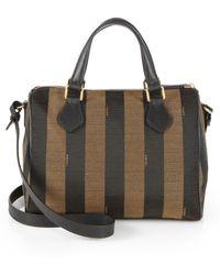 Fendi Pequin Boston Jacquard Shoulder Bag - Lyst