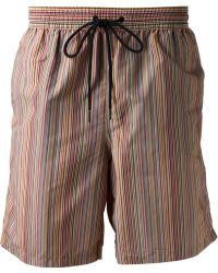 Paul Smith Striped Swim Shorts - Lyst