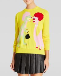 Moschino Cheap & Chic Pullover - Dinosaurs with Wigs Graphic Cashmere - Lyst