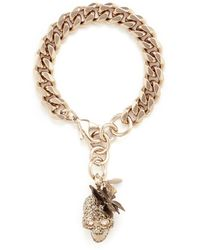 Alexander McQueen | Butterfly Skull Swarovski Crystal Bracelet | Lyst