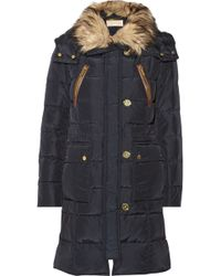 MICHAEL Michael Kors Cire Faux Fur Trimmed Quilted Down Coat - Lyst