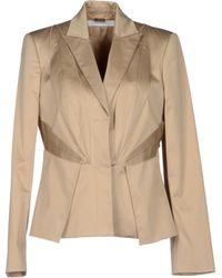 Versace Blazer brown - Lyst