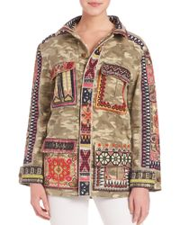 Calypso St. Barth - Nessa Embroidered Camo Jacket - Lyst