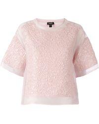 Giambattista Valli Patterned T-shirt - Lyst