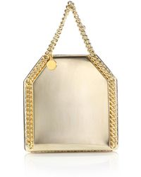 Stella McCartney Falabella Mini Baby Bella Mirrored Top-Handle Bag gold - Lyst