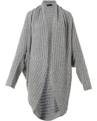 The Row Ilia Ribbedknit Cocoon Cardigan - Lyst