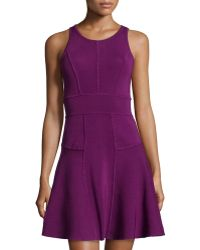 Milly Knit Fit-And-Flare Dress - Lyst