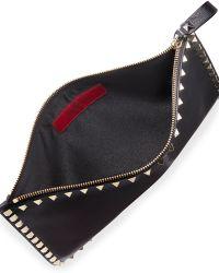 Valentino - Rockstud Large Flat Vitello Pouch Bag - Lyst