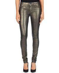 J Brand L624 Leather Stacked Super Skinny - Lyst