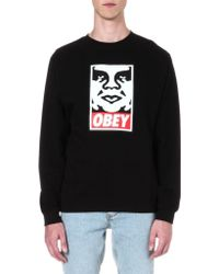 Obey Icon Face Sweatshirt - Lyst