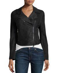 Haute Hippie Asymmetric Leather Cropped Jacket - Lyst