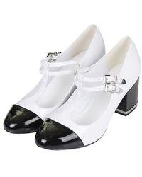 Topshop Jodi Toe Cap Mid-heel Shoes - Lyst