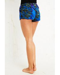 Urban Outfitters - Tiedye Bed Shorts in Blue - Lyst