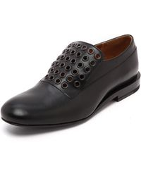 Jil Sander Studded Leather Oxfords  Black - Lyst