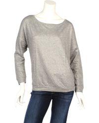 Majestic Metallic Jersey Sweater - Lyst