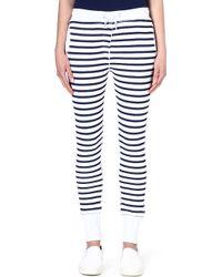 Zoe Karssen Striped Jersey Jogging Bottoms Blue - Lyst