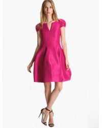 Halston Structured Faille Dress - Lyst