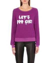 Wildfox Lets Boo Gie Soft Jersey Jumper - Lyst