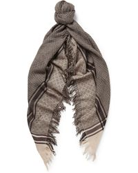 Gucci Wool and Silk-blend Scarf - Lyst
