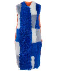 Roksanda Ilincic Multicoloured Patchwork Shearling Gilet - Lyst