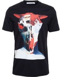 Givenchy Cow Skull And Statue T-Shirt - Lyst