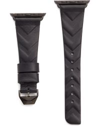 Rebecca Minkoff - Chevron Leather 38mm Apple Watch Band - Lyst