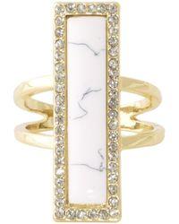House Of Harlow 1960 Illuminating Rectangle Ring white - Lyst