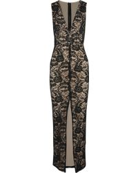 Alice + Olivia Caragen Embellished Guipure Lace Gown - Lyst