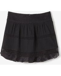 Etoile Isabel Marant Black Clarisse Skirt - Lyst
