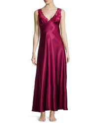 Jonquil | Taylor Lace-front Satin Long Gown | Lyst