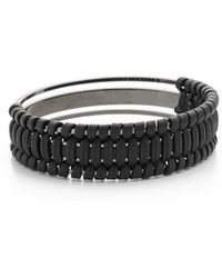 Pluma - Small Woven Leather Bangle Bracelet - Lyst