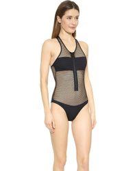 Melissa Odabash Sports Luxe Zuma Swimsuit - Black - Lyst