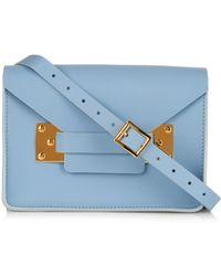 Sophie Hulme Mini Milner Envelope Cross-Body Bag blue - Lyst