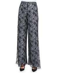 Alice + Olivia Super Flare Lace Wideleg Pants - Lyst
