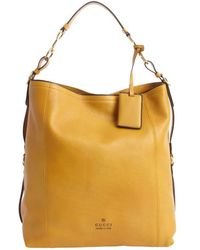 Gucci Harness Yellow Leather Large Hobo Bag - Lyst