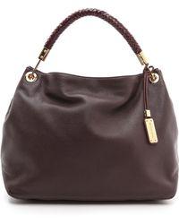 Michael Kors Collection Skorpios Large Shoulder Bag Bordeaux - Lyst