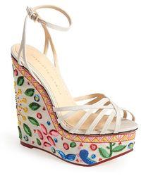 Charlotte Olympia 'Meredith' Platform Wedge Sandal multicolor - Lyst