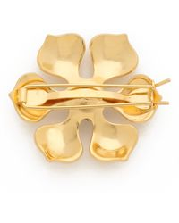 Dauphines of New York | Best In Bloom Barrette - Gold/clear | Lyst