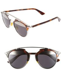 Dior Women'S 'So Real' 48Mm Sunglasses - Palladium/ Havana - Lyst