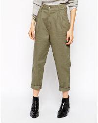 Asos High Waist Utility Trousers - Lyst