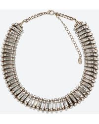 Zara Beads And Crystals Necklace - Lyst