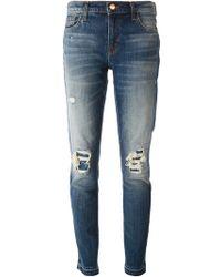 J Brand Distressed Slim Fit Jeans - Lyst