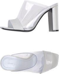 Celine White Sandals - Lyst