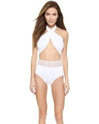DEL MAR - Alayna Maillot One Piece - White - Lyst