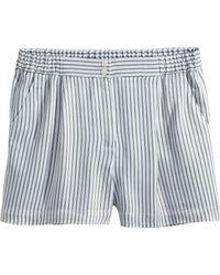 H&M Satin Shorts - Lyst