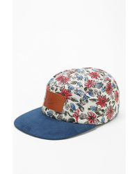 Reason - Floral 5panel Camp Hat - Lyst