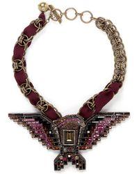 Lanvin Crystal Embellished Eagle Necklace - Lyst