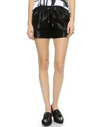 Laveer Haircalf Track Shorts - Black - Lyst